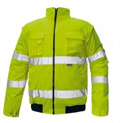 Jachetă impermeabilă, termoizolantă, HI-VIS, 2 în 1, CLOVELLY