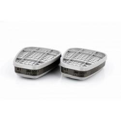 Set două bucăți filtru pentru vapori organici A1, 3M™ 6051