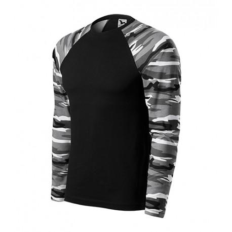 Tricou cu mânecă lungă, 100% bumbac, CAMOUFLAGE LS 166