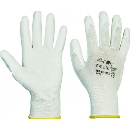 Mănuși de protecție din poliester acoperite parțial cu PU, BUNTING ECO