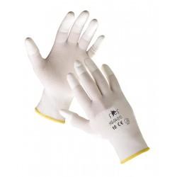 Mănuși tricotate din nailon, degetele imersate parțial în PU, LARK ECO