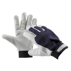 Mănuși de protecție cu palma din piele fină de capră, PELICAN BLUE