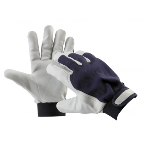 Mănuși de protecție din piele fină de capră, PELICAN BLUE