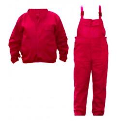 Costum salopetă cu pieptar, 100% bumbac, SALPP BPE