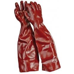 Mănuși pentru protecție chimică, imersate în PVC, 60 CM, FULVUS