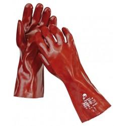 Mănuși pentru protecție chimică, imersate în PVC, 35 CM, FULIGULA