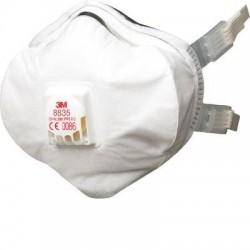 Mască de protecție tip cupă cu supapă FFP3 3M™ 8835