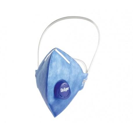 Semi-mască de protecție pliabilă, cu supapă, Dräger X-plore 1720 V FFP2 NR D