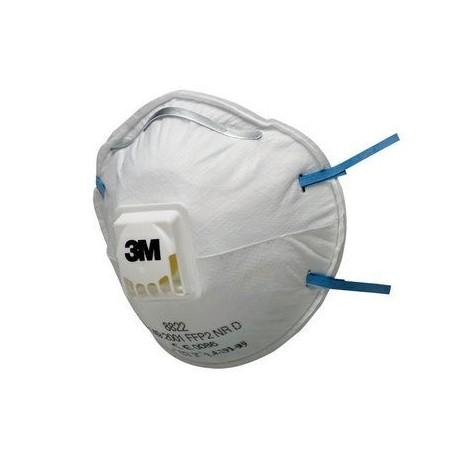 Mască de protecție cu supapă, FFP2, 3M™ 8822