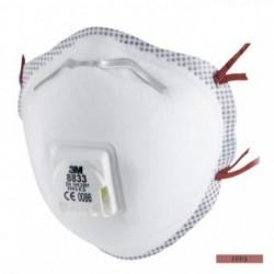 Mască de protecție împotriva particulelor, cu supapă, reutilizabilă, FFP3, 3M 8833