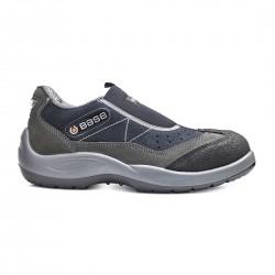 Pantofi de protectie cu bombeu din otel, din piele de caprioara, Mechanic, B0440