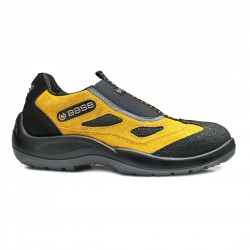 Pantofi de protectie cu bombeu din otel, din piele de caprioara. Four Holes, B0475