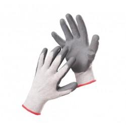 Mănuși tricotate din poliester imersate parțial în nitril, BABBLER ECO