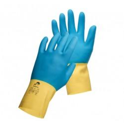 Mănuși protecție chimică antiderapante latex/neopren, CASPIA