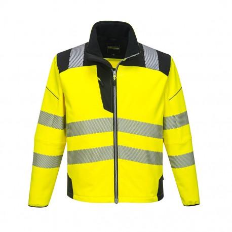 Jachetă Softshell, impermeabilă, HI-VIS, VISION PW3 T402